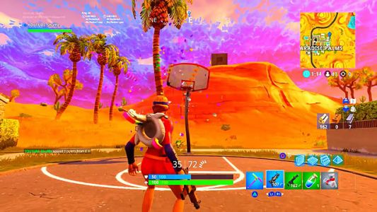 Fortnite Challenge Guide: Score a 3 Point Shot at Different Basketball Courts