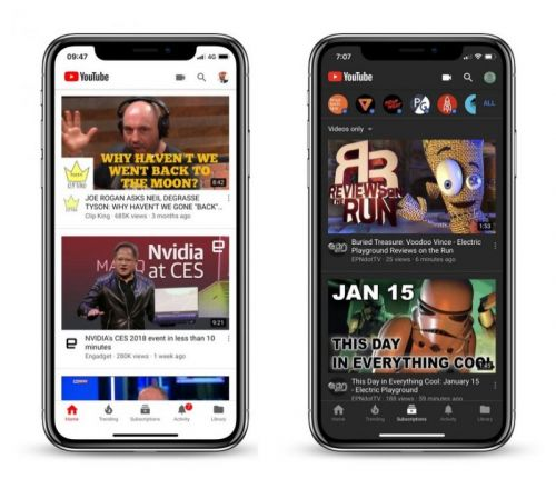 YouTube Currently Testing New Dark Mode for Mobile iOS App