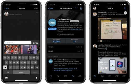 Tweetbot 5 Gains Dark Mode, Design Tweaks, Auto-Playing Media, and GIPHY Support