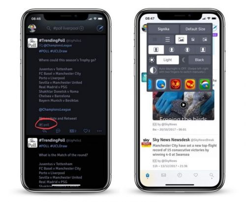 Twitterrific 5.18 for iOS Gains New Black Theme Made for iPhone X, Tweet Poll Detection, and More