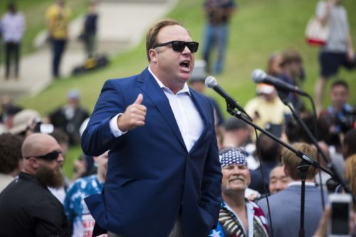 """PayPal bans Alex Jones, saying he """"promoted hate"""""""