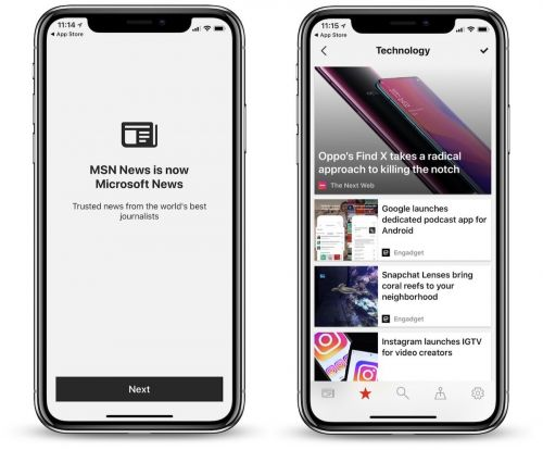 Microsoft Launches Rebranded 'Microsoft News' App for iOS With Dark Mode and More
