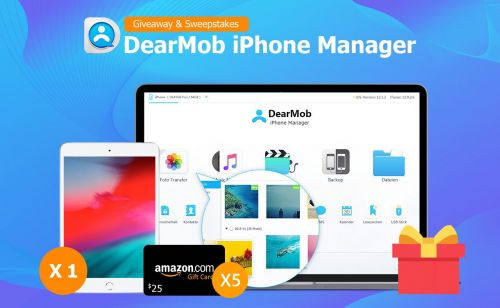 Win iPad Mini and Get Exclusive Discount of DearMob iPhone Manager for TTS Readers
