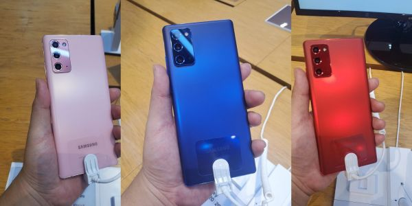 Samsung Galaxy Note 20 gets slick Mystic Blue, Red, and Pink colors in Korea