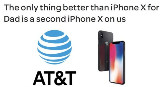 AT&T Launches Father's Day 'Buy One, Get One' iPhone X Deal