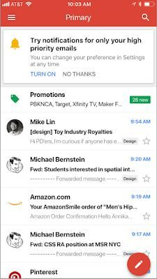 Gmail App Lets Users Limit Notifications To High Priority Emails