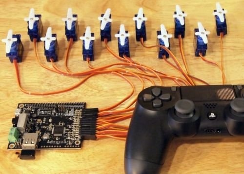 Easily Control Servos Using A PlayStation 4 Controller And ServoShock 2