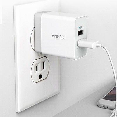 Plug in all the things with over $5 off this Anker 24W 2-Port Wall Charger