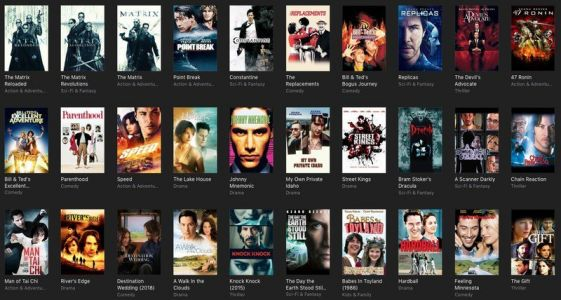 The latest iTunes sale is discounting a ton of amazing Keanu Reeves movies