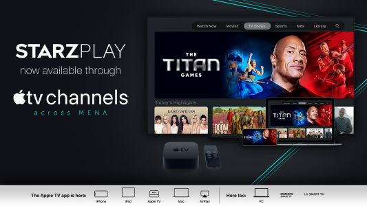 Middle East's STARZPLAY Now Available Through Apple TV Channels