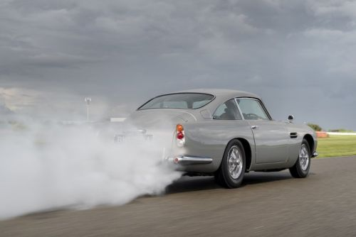 The first Aston Martin DB5 Goldfinger Continuation rolls off the production line