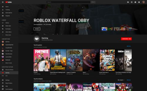 YouTube Gaming app is dead, but its features survive on YouTube proper