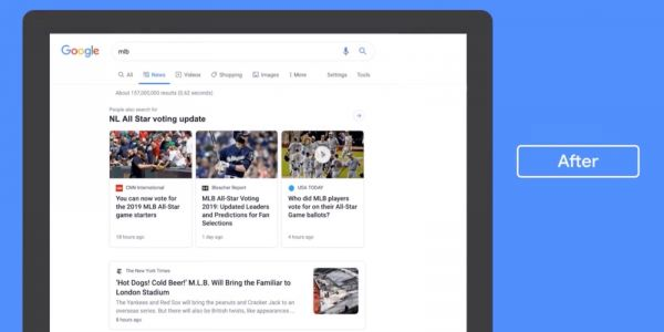 Google introduces redesigned News tab for desktop Search