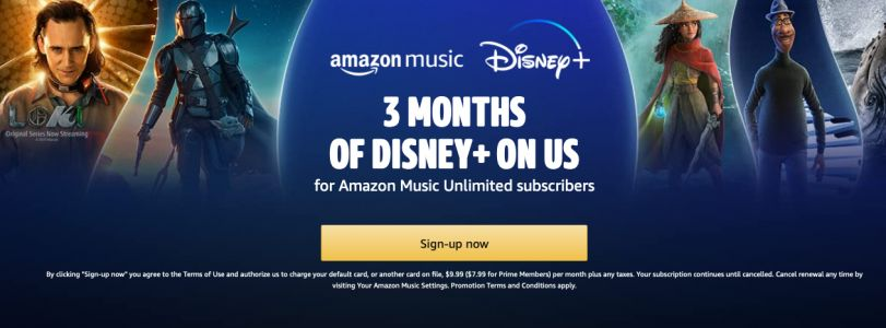 Kick off the weekend with 6 months of Disney+ for free with Amazon Music Unlimited